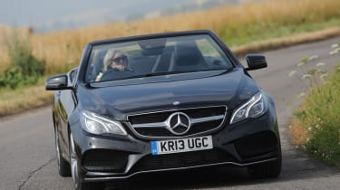 Mercedes E-Class Cabriolet front action