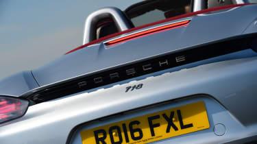 Convertible megatest - Porsche 718 Boxster - rear