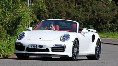 Porsche 911 Turbo S Cabriolet action