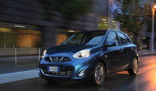Nissan Micra front and side view