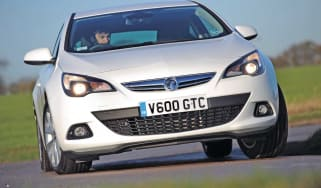 Vauxhall Astra GTC front cornering