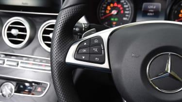 Mercedes C-Class Cabriolet - steering wheel detail