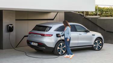 Mercedes EQC - rear charging