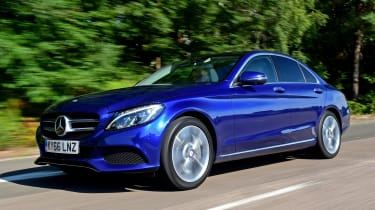 Mercedes C 350e plug-in hybrid - front tracking