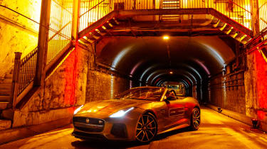 Jaguar F-Type SVR Tunnel Run - front three quarter
