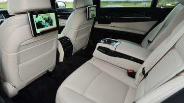BMW 730Ld rear seats