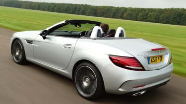 Mercedes SLC 250d - rear tracking