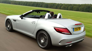 Mercedes SLC 250d - rear tracking