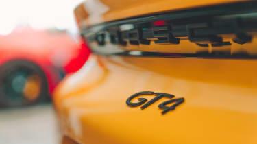 Porsche 718 Cayman GT4 - GT4 badge