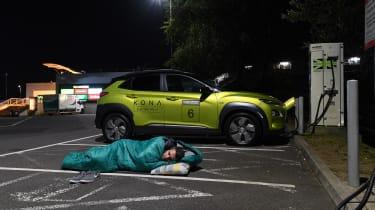 Richard Ingram does sleeping on the street