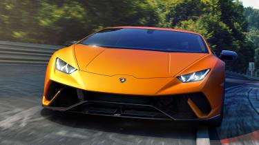 Lamborghini Huracan Performante - front track cornering