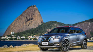 Nissan Kicks official - front quarter