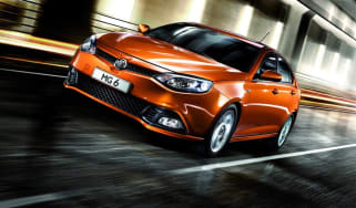 MG Motors MG6 saloon front tracking