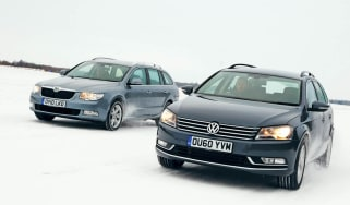 New VW Passat vs. Superb front