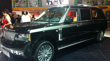 Last-gen Range Rover not big enough for you? How about this six-metre-long version, featuring six individual seats. Tuner Dayoushangji from the city of Dalian was responsible for this one.