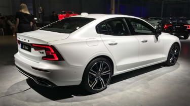 New Volvo S60 white rear quarter