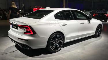 New Volvo S60 white rear quarter