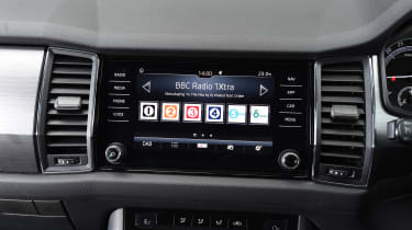 Mazda CX-5 vs Skoda Kodiaq vs VW Tiguan - Skoda Kodiaq infotainment