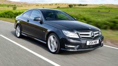 Mercedes C250 CGI Coupe front tracking