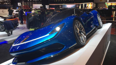 Pininfarina Battista at Geneva Motor Show 2019 blue