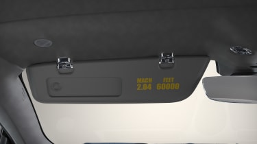 Aston Martin DBS Superleggera Concord - sun visor