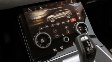 Range Rover Evoque lower infotainment