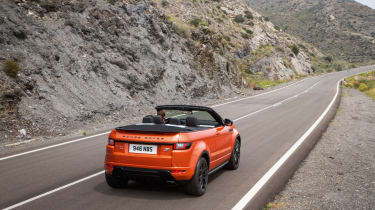 Range Rover Evoque Convertible rear actions