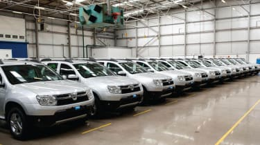 Dacia Duster row