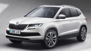 Skoda baby crossover - front (watermarked)