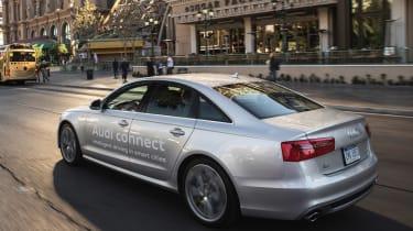 Audi A6 traffic light tech prototype