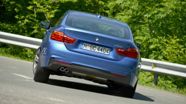 BMW 4 Series Gran Coupe 2014 cornering rear