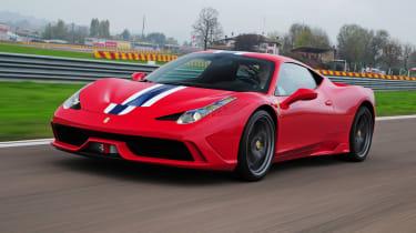 Ferrari 458 Speciale front action