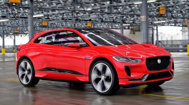 Jaguar I-Pace prototype 2017 - front tracking