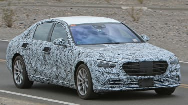 Mercedes S-Class Spies - front 3/4 tracking