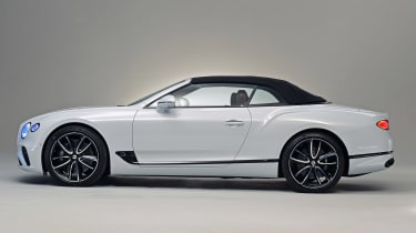Bentley Continental GTC - studio side roof up