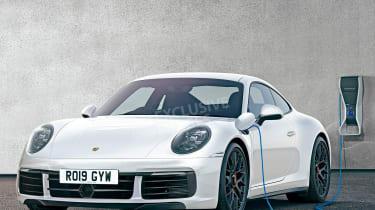 Porsche 911 hybrid - front (watermarked)