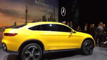 Mercedes GLC Coupe concept - side show pic