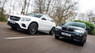 Mercedes GLC Coupe vs BMW X4 - header