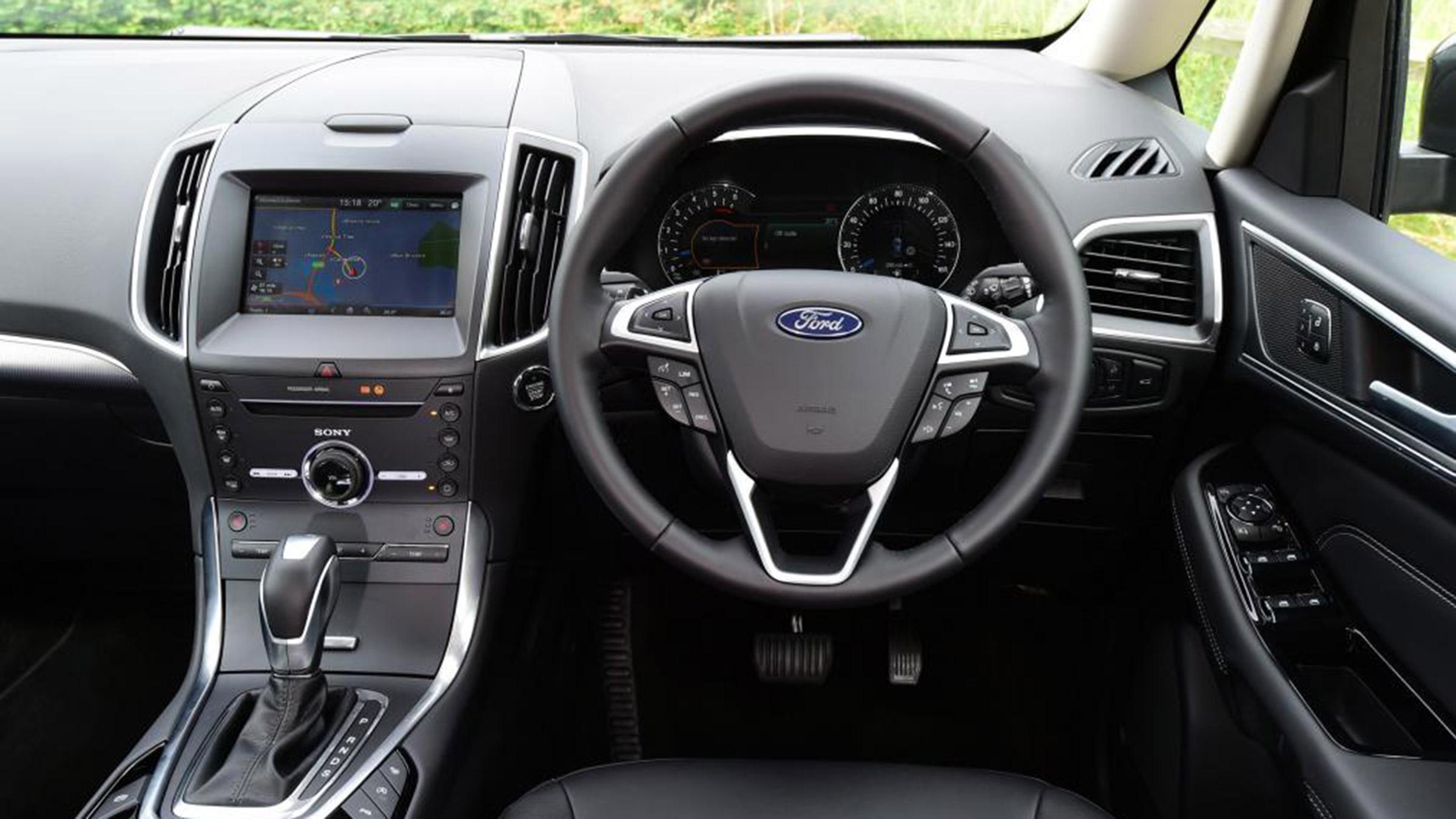 Ford Galaxy Interior Satnav Dashboard Options Auto Express