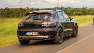 New Porsche Macan 2018 prototype review rear end