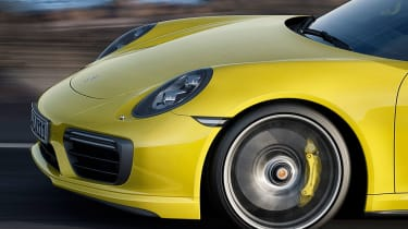 New 2016 Porsche 911 Turbo S nose