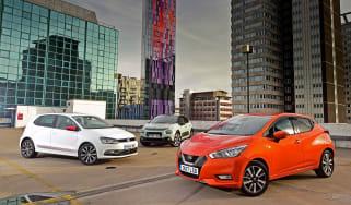 Nissan Micra vs Volkswagen Polo vs Citroen C3 - header