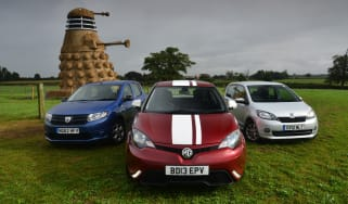 MG3 vs Dacia Sandero and Skoda Citigo
