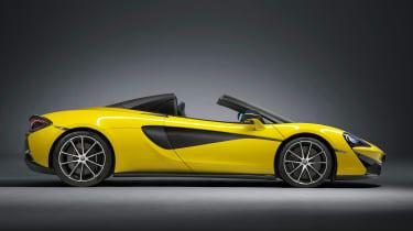 McLaren 570S Spider - side roof down