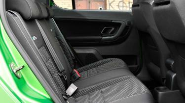 Skoda Fabia vRS rear seats