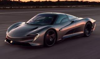 McLaren Speedtail - runway testing - front tracking