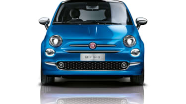 head on Fiat 500 Mirror special edition 2018