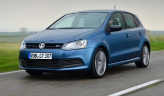 VW Polo Blue GT front tracking