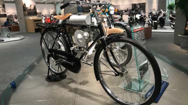 Honda auxiliary engine on bicycle