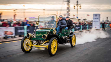 London to Brighton Veteran Car Run  -  finish